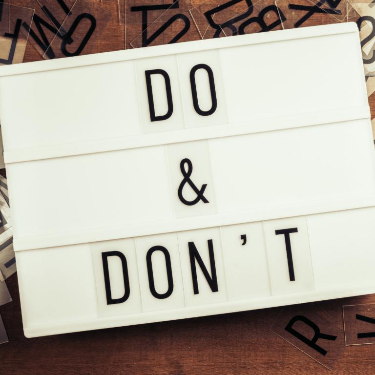 Dos and Don'ts auf der Reise zu Ihrer Marke Markenreise – Teil 2